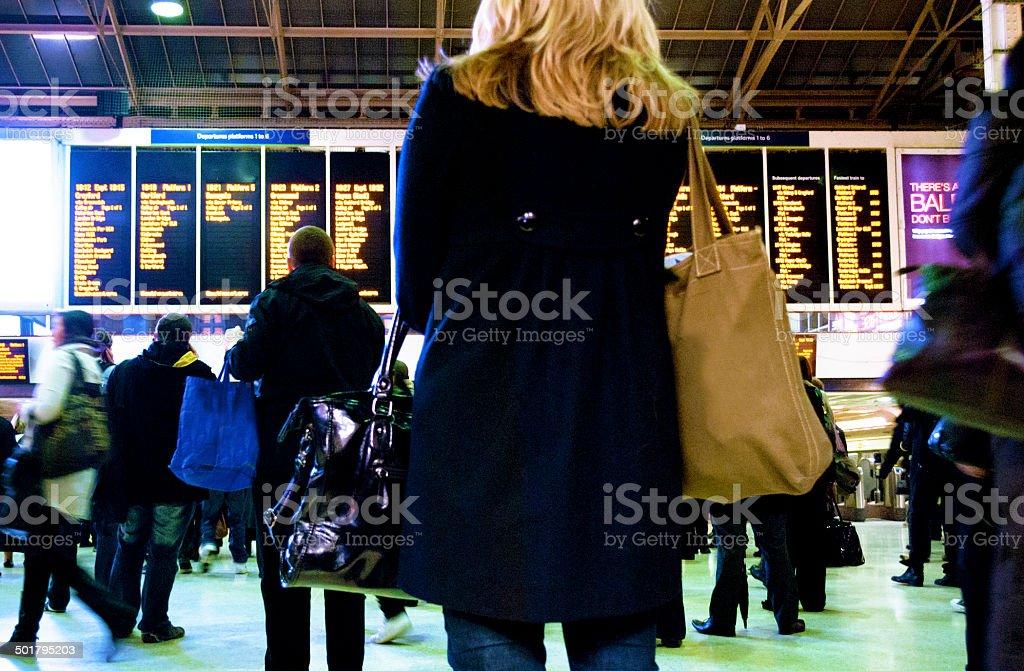 Charing Cross Station, London stock photo