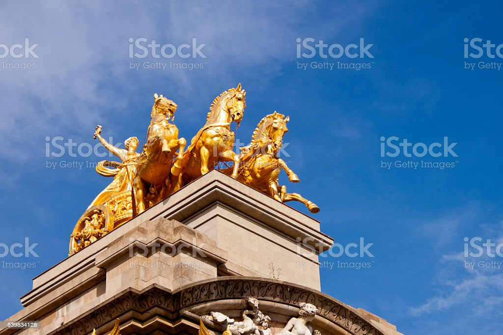 Chariot of Aurora in Ciutadella Parc, Barcelona stock photo