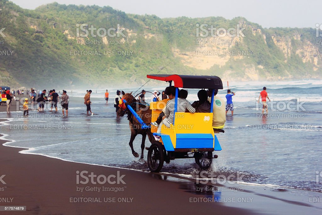 Chariot on the beach stock photo