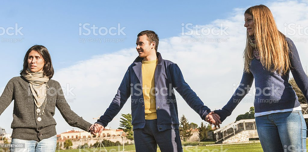 charity chain people royalty-free stock photo