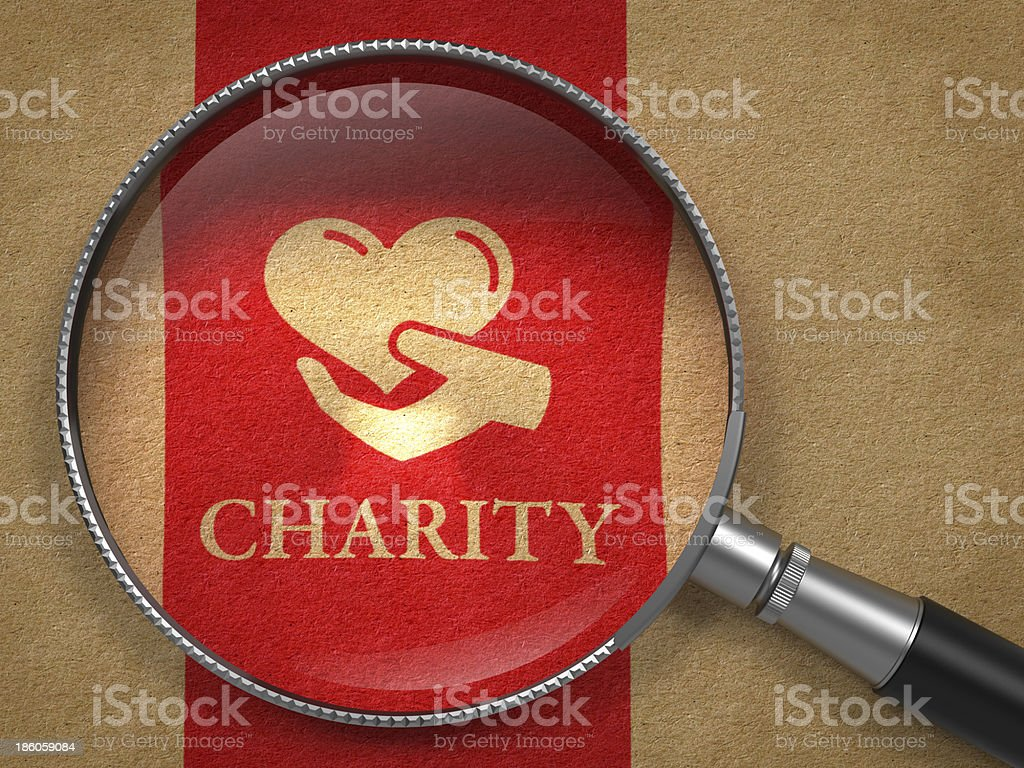 Charity Concept. stock photo