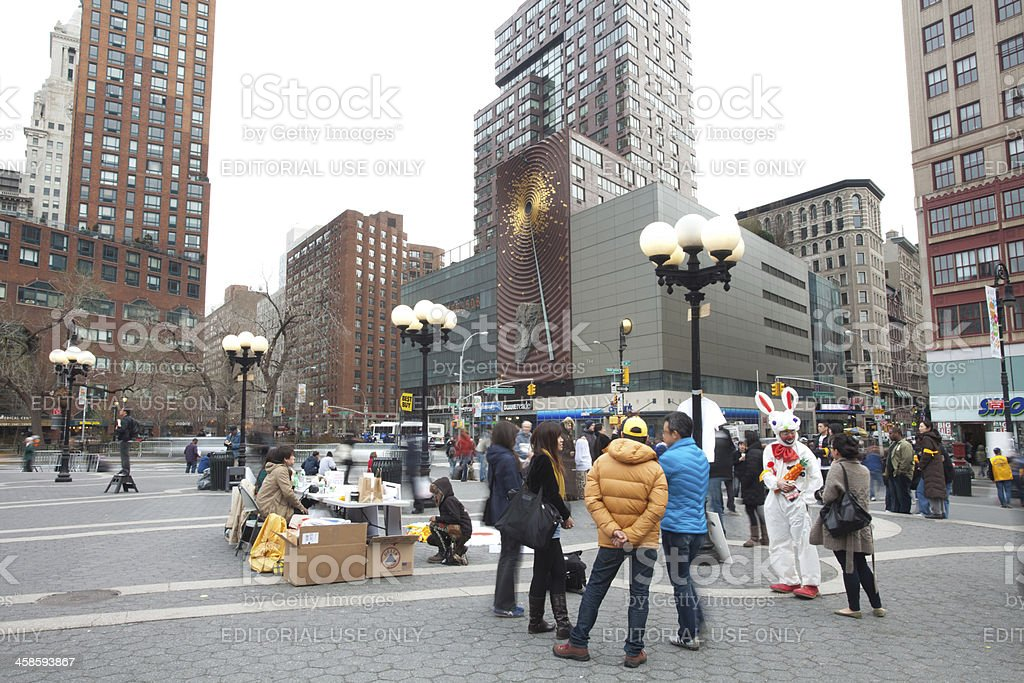 Charity event dedicated to Japan earthquake-tsunami victims at Union Square stock photo