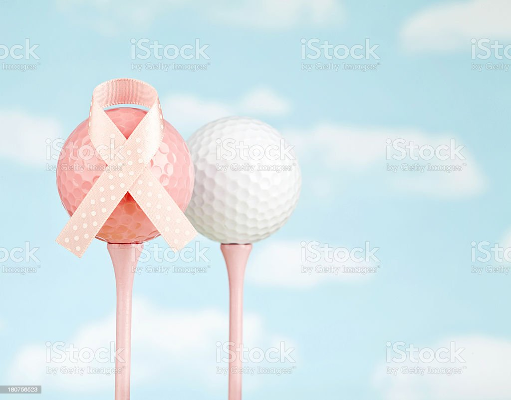 Charity Golf for Breast Cancer Awareness royalty-free stock photo