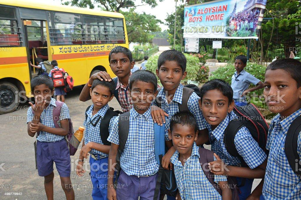 Charity kids stock photo