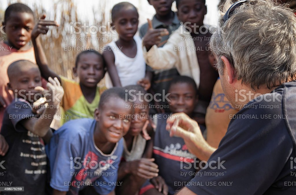 Charity work in Namibia royalty-free stock photo