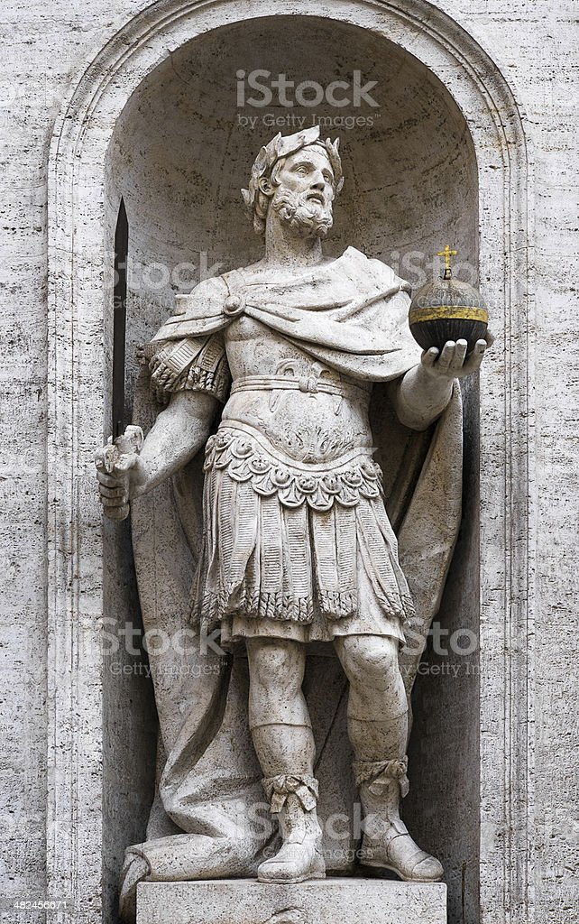 Charlemagne statue stock photo