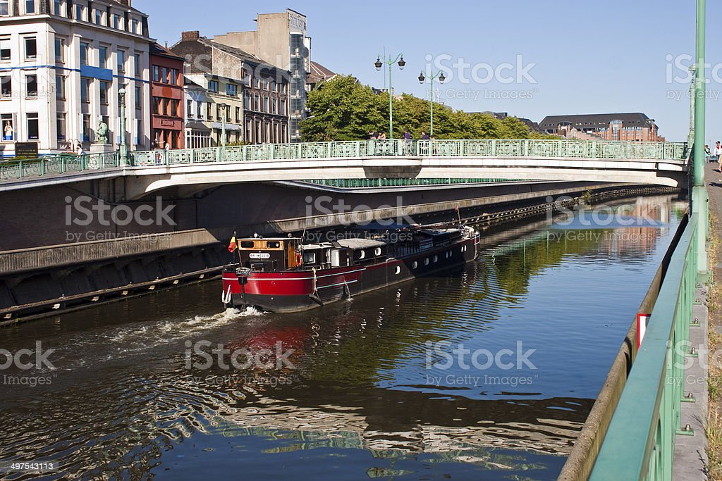 Charleroi-Brussels canal stock photo