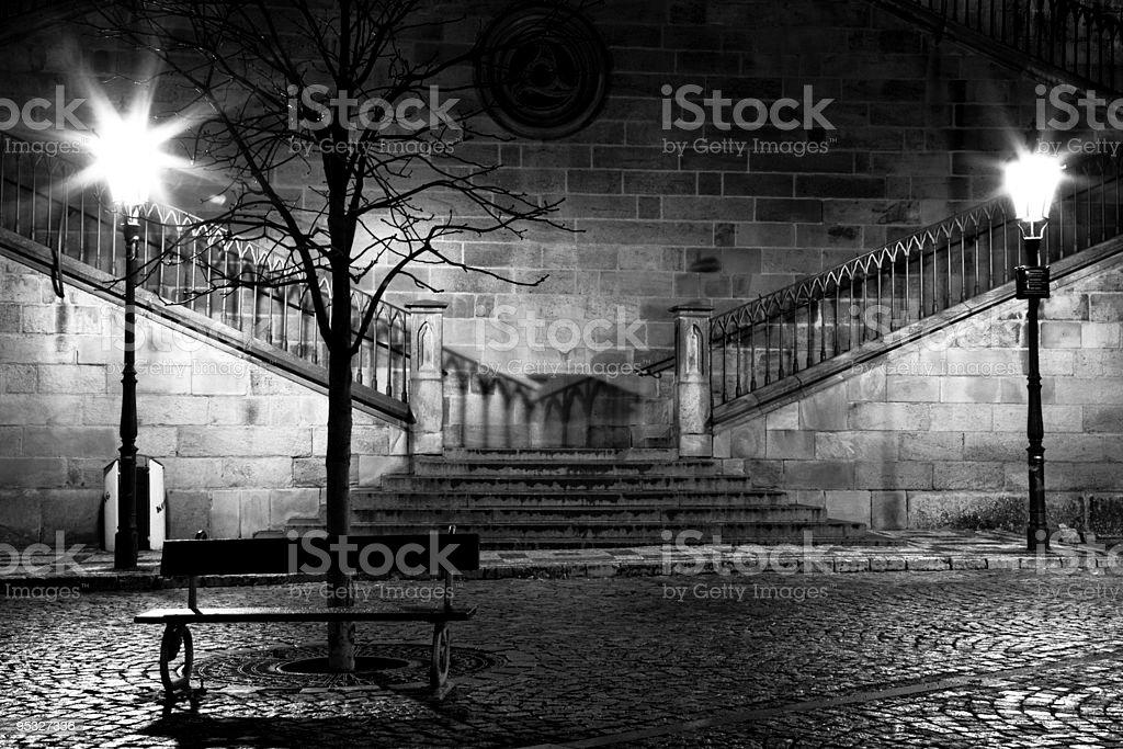 Charles bridge from the side of Mala Strana, Prague royalty-free stock photo