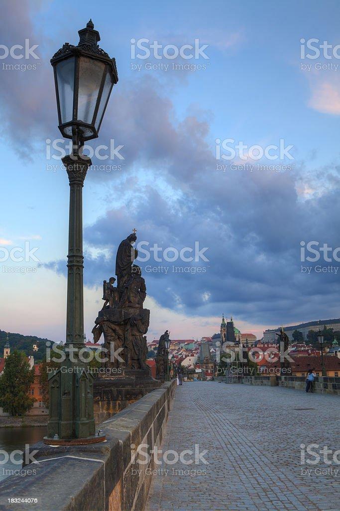 Charles Bridge in Prague, Czech Repubic royalty-free stock photo