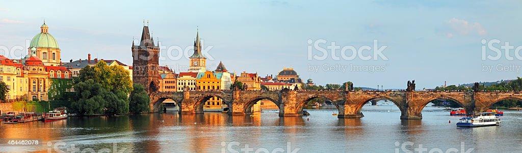 Charles bridge in Prague, Czech republic stock photo
