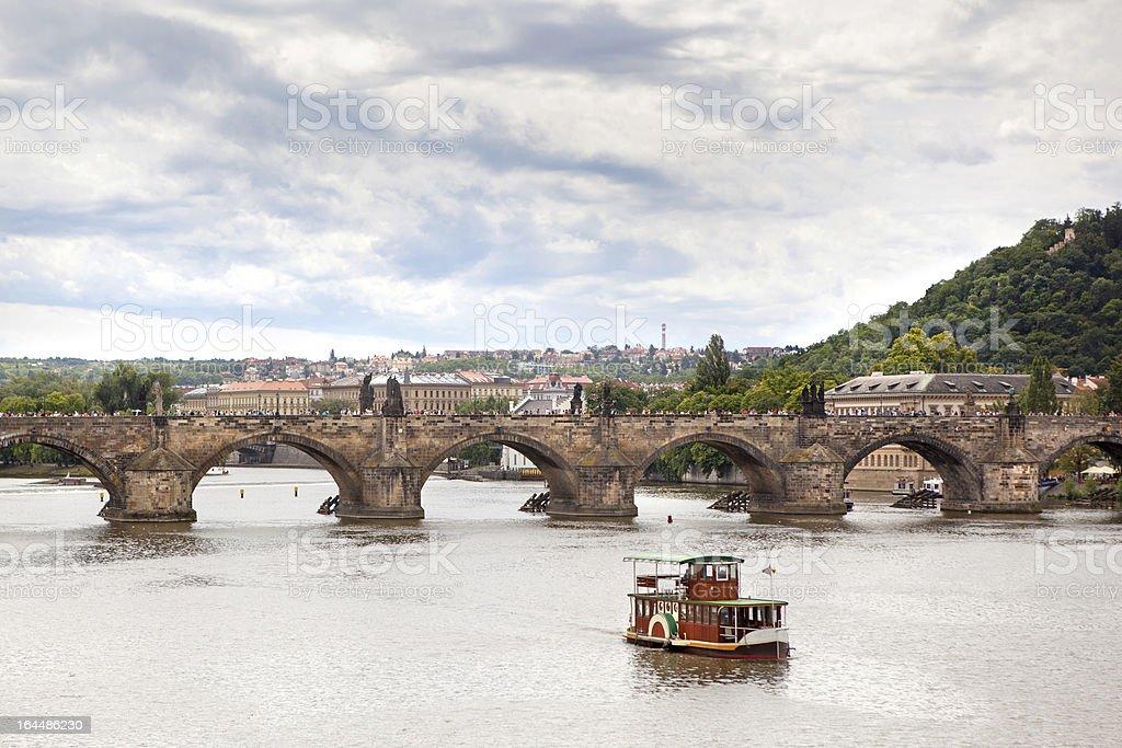 Charles Bridge in Prague royalty-free stock photo