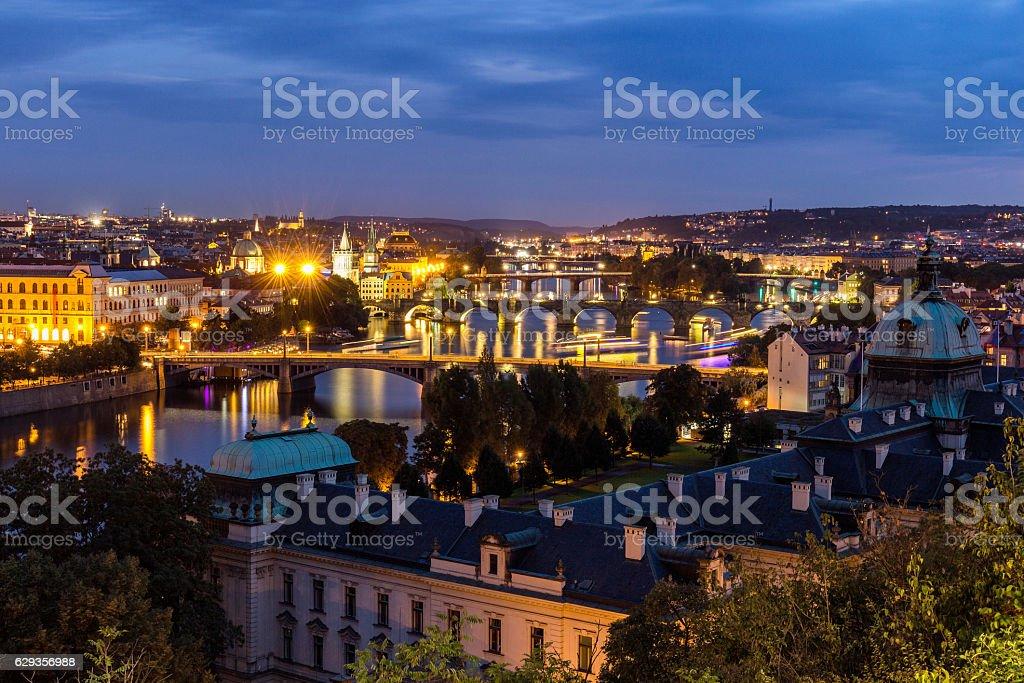 Charles Bridge (Karluv Most) is Prague most familiar monument stock photo