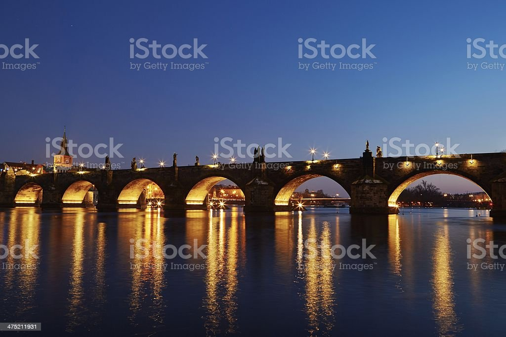 Charles bridge stock photo