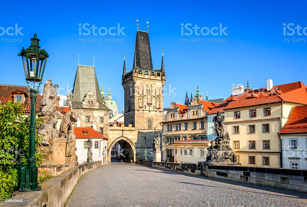 Charles Bridge, Prague, Czech Republic stock photo