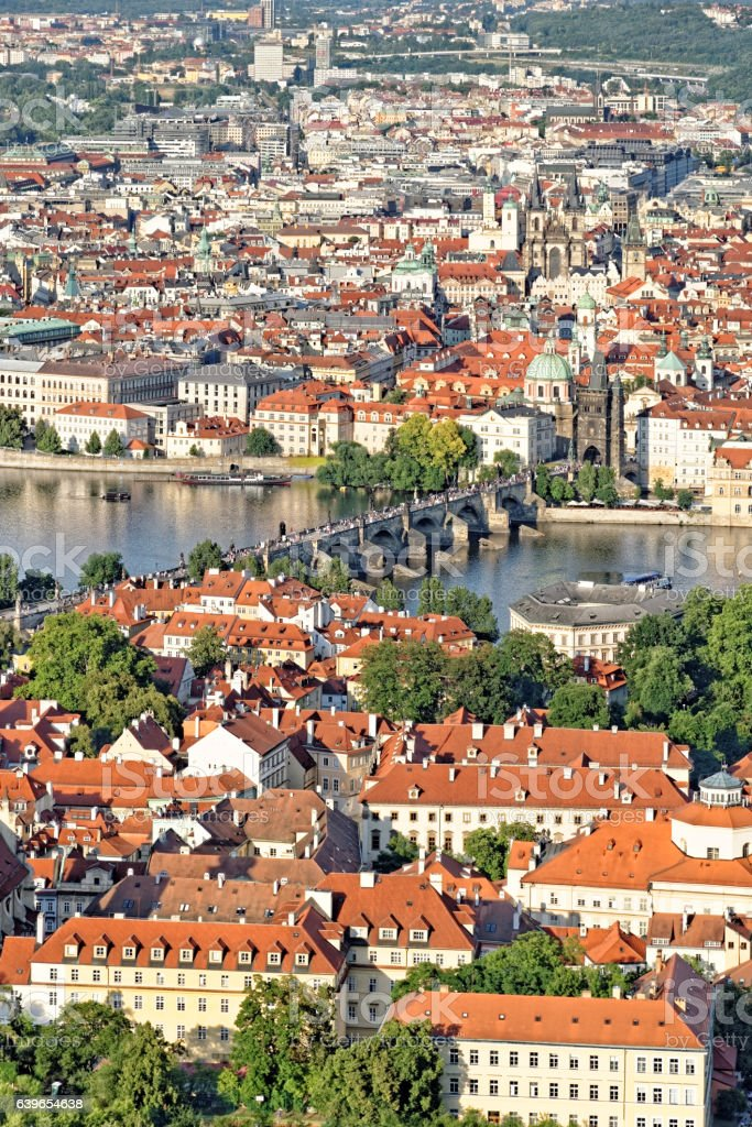 Charles Bridge, Prague, Czech Republic. stock photo