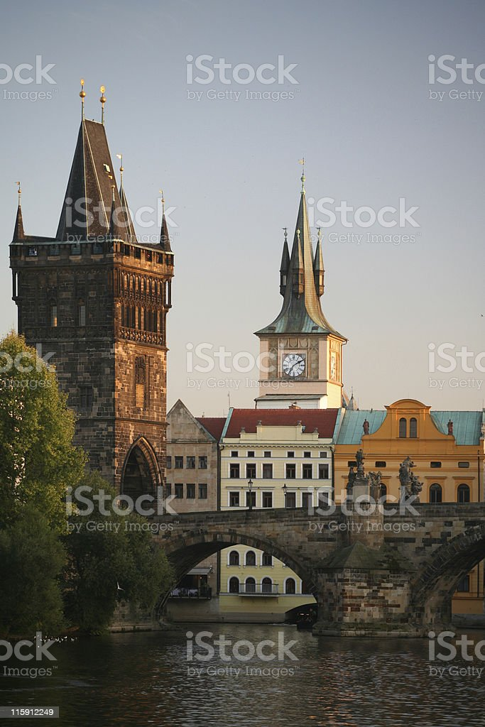Charles Bridge, Prague royalty-free stock photo