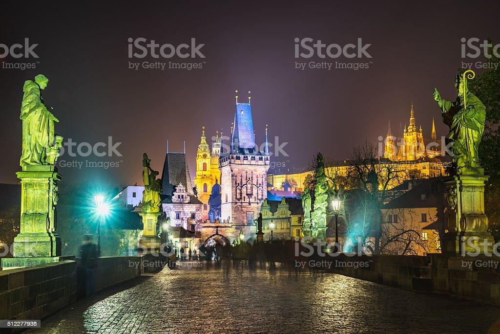 Charles Bridge, Prague. stock photo