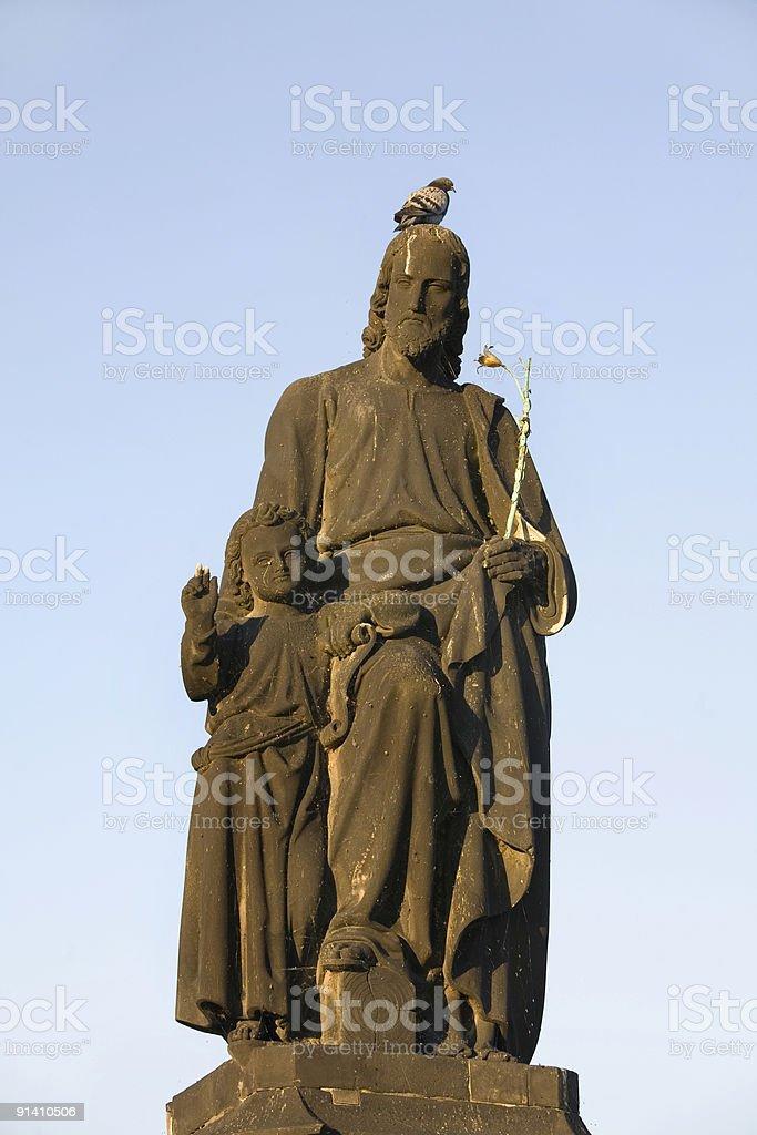 Charles Bridge Statue, Prague, Czech Republic royalty-free stock photo