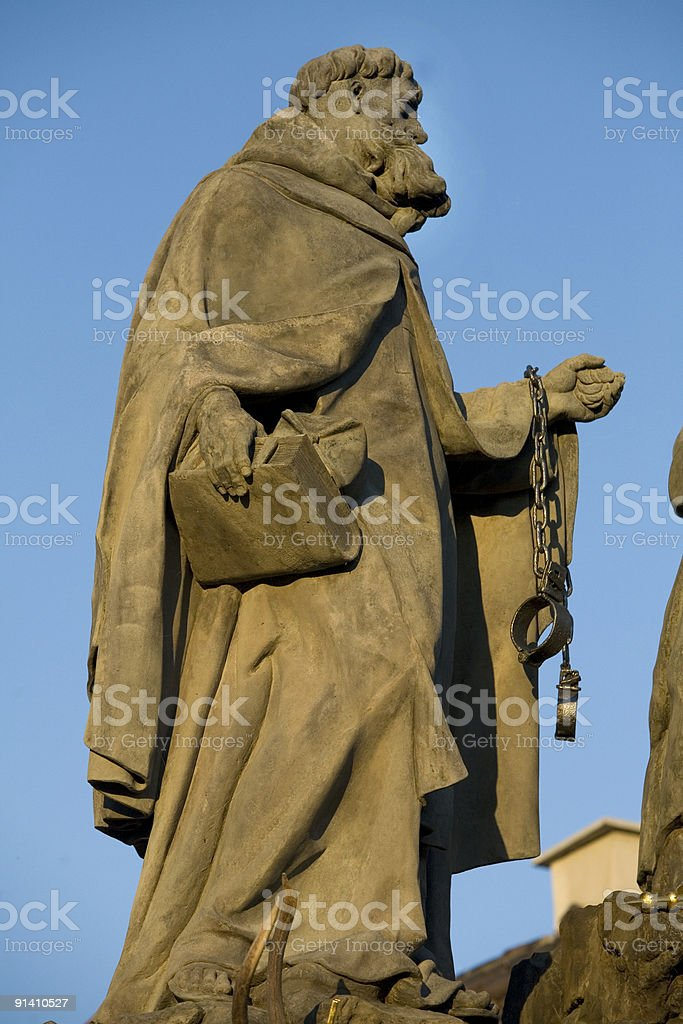 Charles Bridge Statue, Prague, Czech Republic royalty-free stock photo