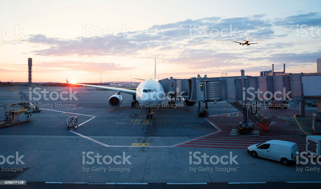 Charles De Gaulle Airport in Paris stock photo