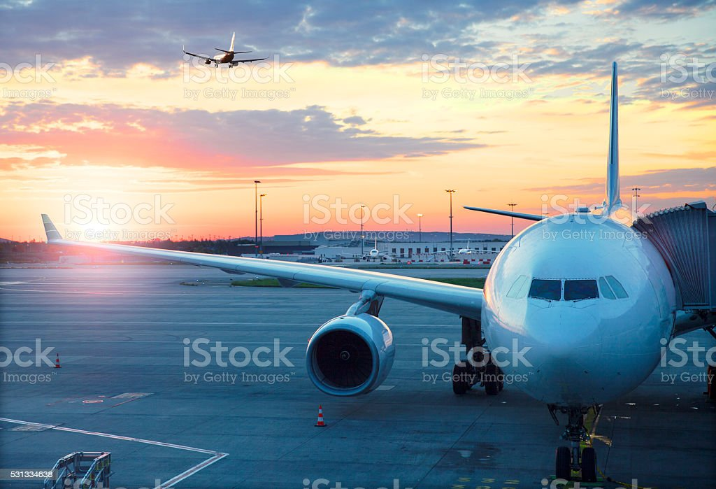 Charles De Gaulle International Airport in Paris stock photo
