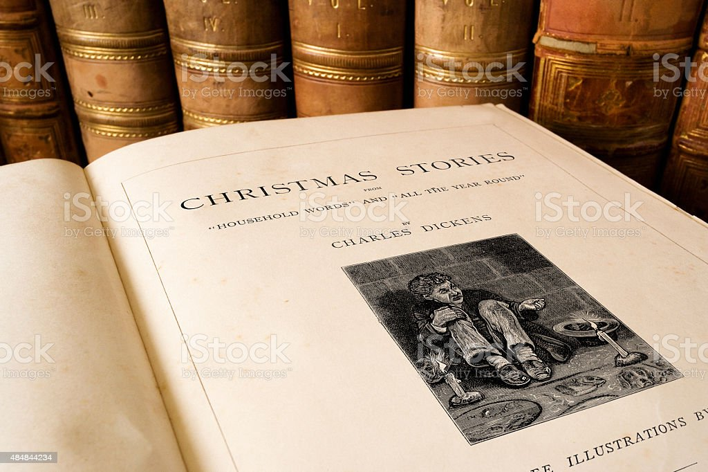 Charles Dickens - Christmas Stories stock photo