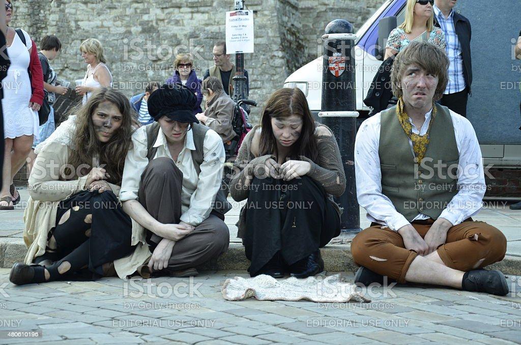 charles dickens festival rochester stock photo