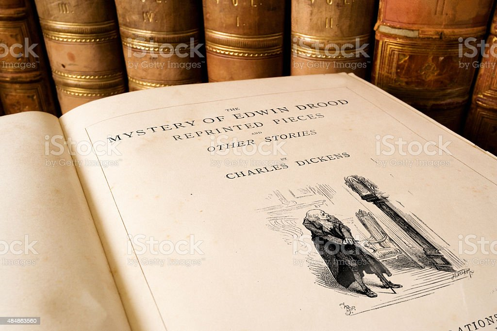 Charles Dickens - Mystery of Edwin Drood stock photo