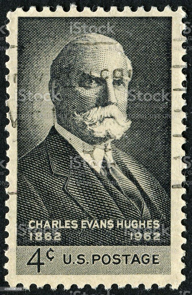 Charles Evans Hughes Stamp stock photo
