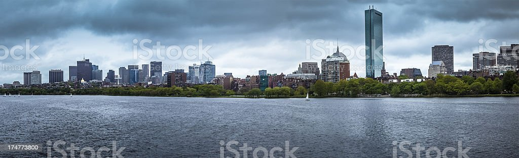 Charles River and Boston Cityscape - Panorama stock photo