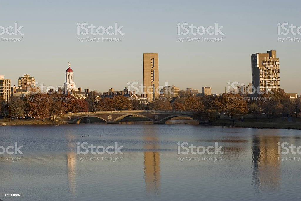 Charles River at sunset royalty-free stock photo