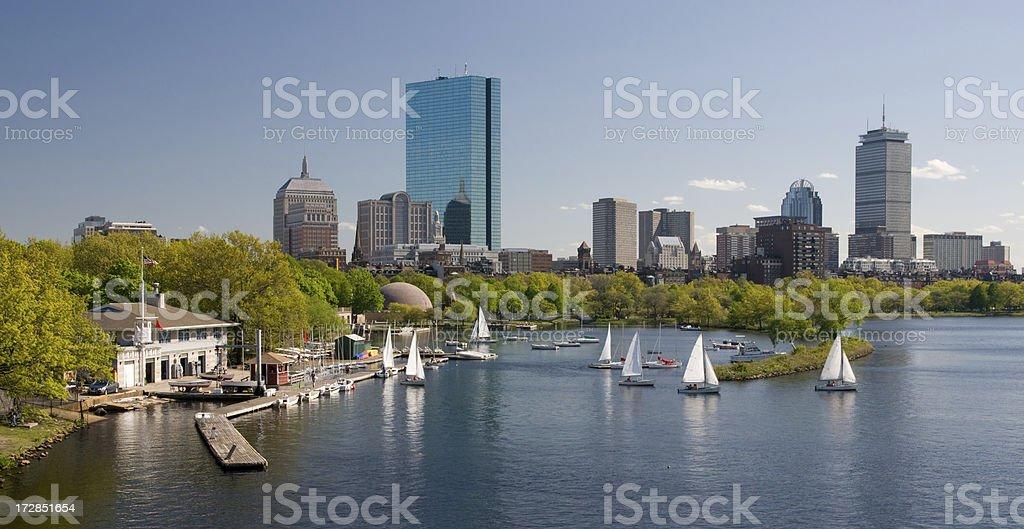charles River, Boston royalty-free stock photo