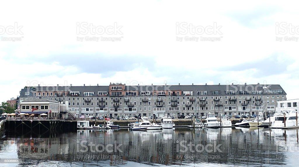 Charles River Bostonian houses royalty-free stock photo