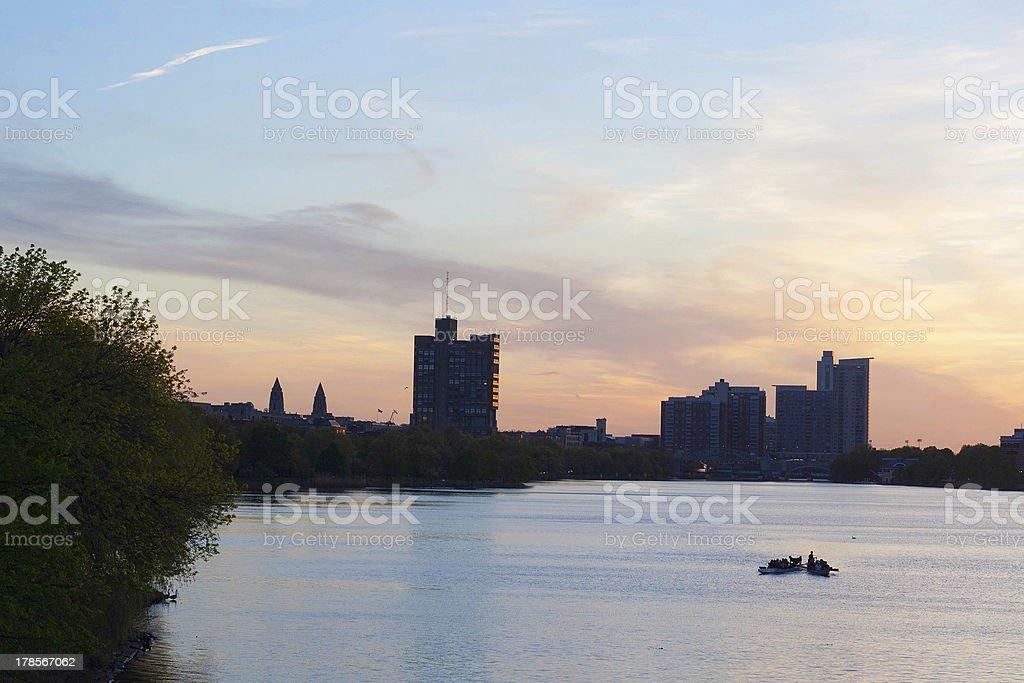 Charles River Cambridge royalty-free stock photo