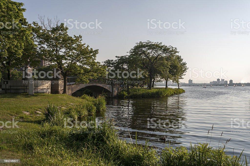 Charles River Esplanade royalty-free stock photo