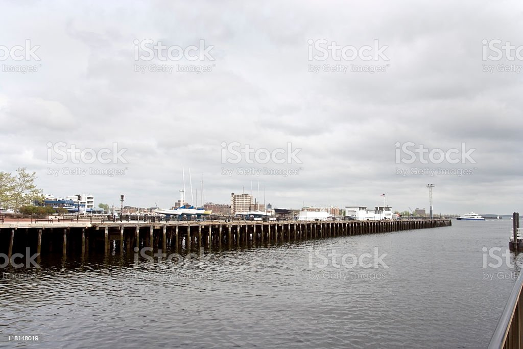 Charles River Jetty stock photo