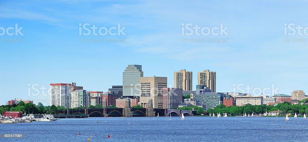 Charles river panorama royalty-free stock photo