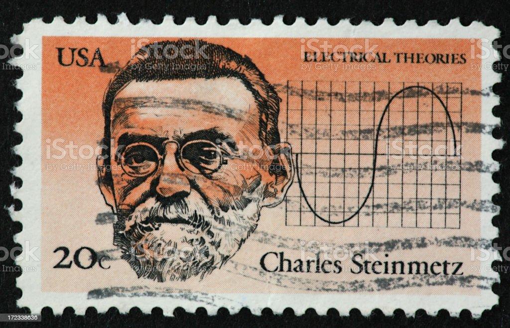 Charles Steinmetz stamp royalty-free stock photo