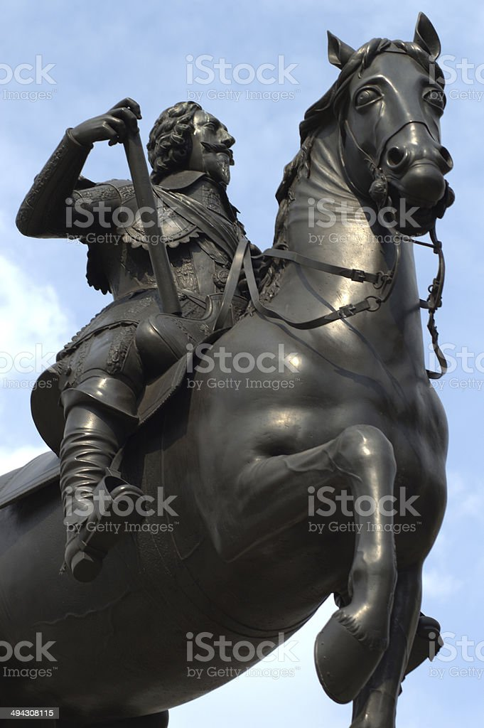 Charles the First Statue stock photo