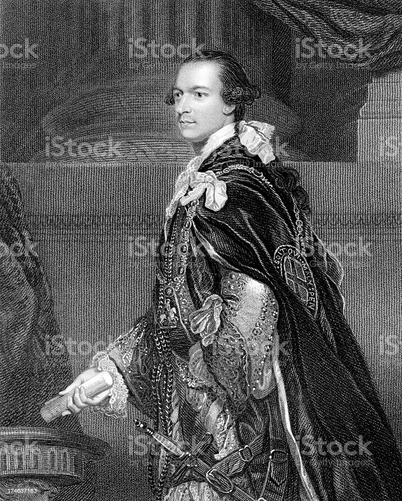 Charles Watson-Wentworth, 2nd Marquess of Rockingham stock photo