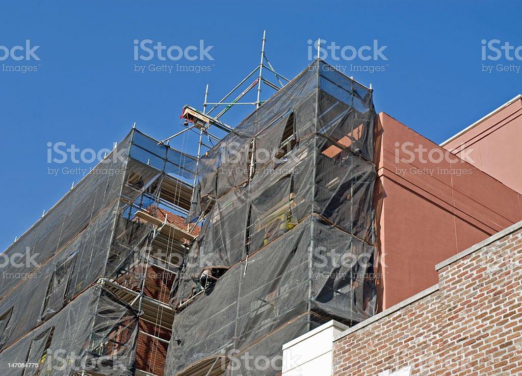 Charleston Building Under Repair royalty-free stock photo