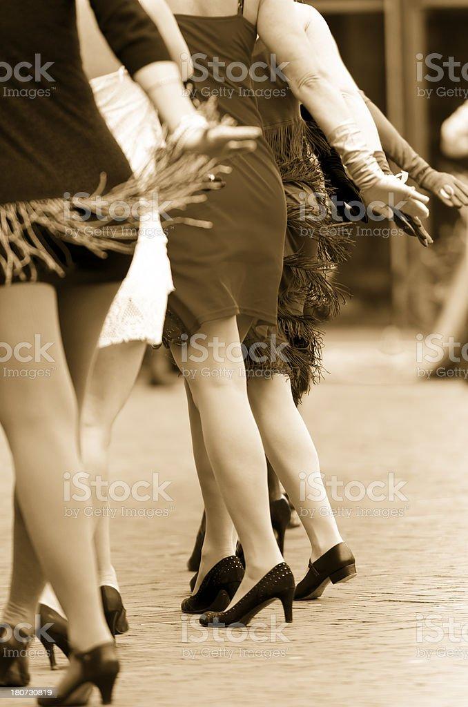Charleston dancers royalty-free stock photo
