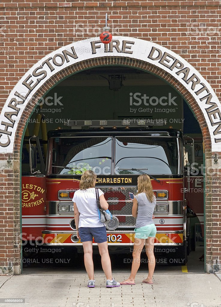 Charleston Fire Department stock photo