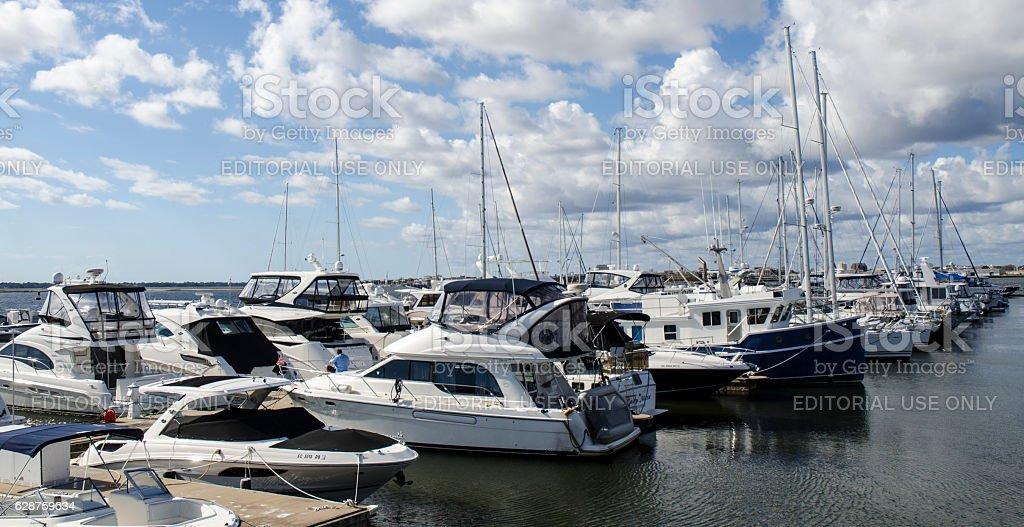 Charleston Harbor Marina, Charleston, South Carolina stock photo