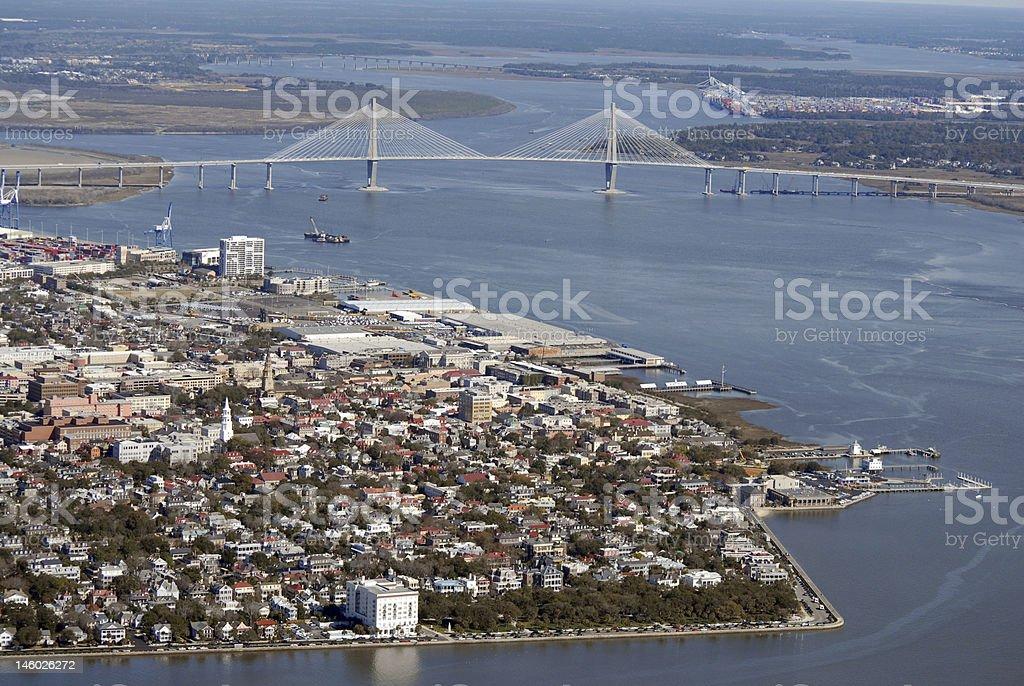 Charleston Harbor stock photo