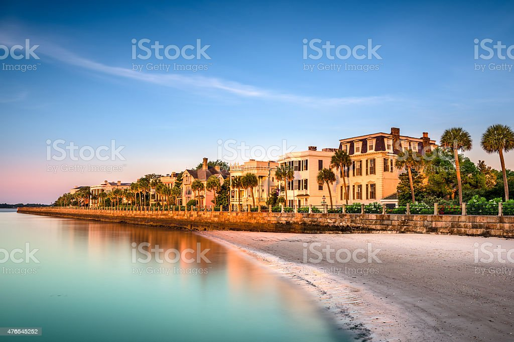 Charleston Historic Homes District stock photo