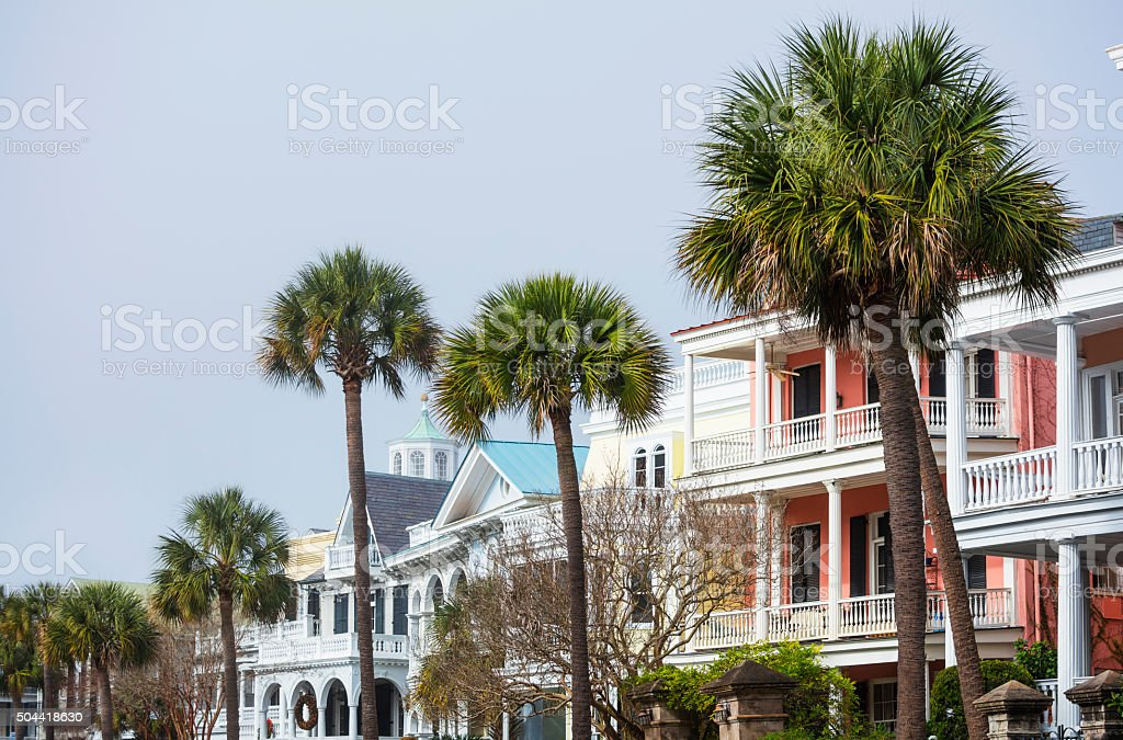 Charleston Historic Houses. stock photo