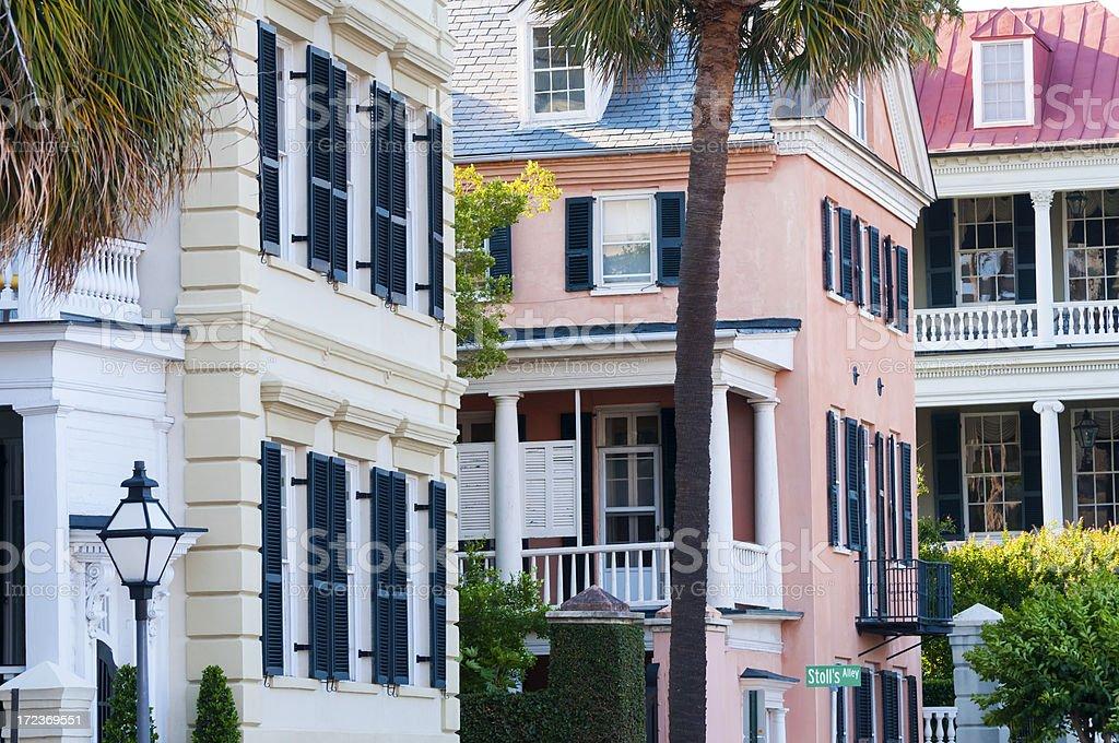 Charleston homes stock photo