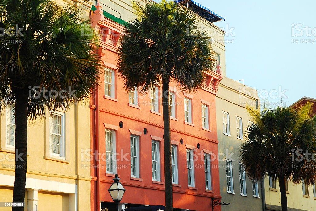 Charleston Row Houses stock photo