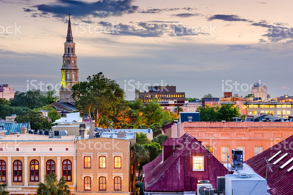 Charleston Skyline stock photo